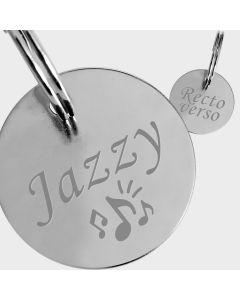 Médaille métal argenté gravé rond L