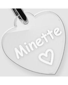 Médaille Plexiglas gravée coeur S