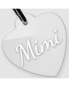 Médaille Plexiglas gravée coeur M