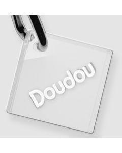 Médaille Plexiglas gravée losange S