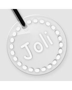 Médaille Plexiglas gravée rond S