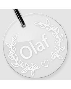 Médaille Plexiglas gravée rond L