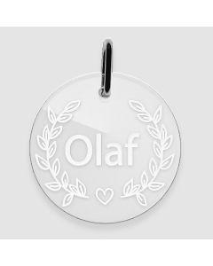 Médaille Plexiglas gravée rond 33x33 mm